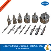 SUNVA-SY-4 Diamond Coated Drill Bits for Glass
