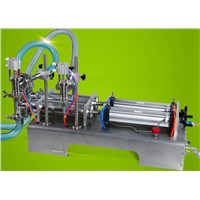 Semi-Automatic Two Nozzle Piston Pneumatic laundry washing Liquid filling machine