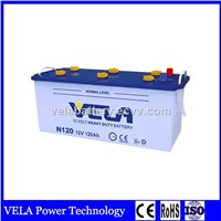 Top Selling Good Quality N120 Dry Charged Lead Acid Truck Battery