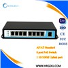 ieee802.3af/at 10/100Mbps 8 ports poe switch for ip camera /wireless ap