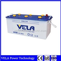 Good Design Cheap Price N150 Dry Charge Lead Acid Truck Battery