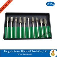 SUNVA-SR Diamond Mounted Points 10pcs/set /Diamond Burrs /Diamond Tools