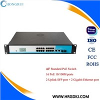 ieee802.3 af/at 10/100Mbps 16 port poe switch for ip camera