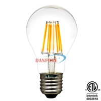 360 Degrees Edison Light 4w 6w 8w Dimmable A19 E27 LED Filament Bulb