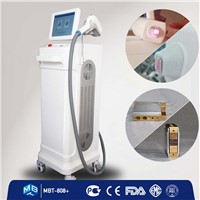 808nm diode laser hair removal machines / 2.5L water velocity + alexandrite laser + micro channel