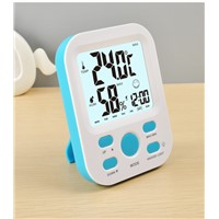 LCD Digital Display Thermometer Hygrometer Electronic Temperature Humidity Clock Weather Alarm Clock