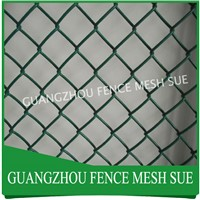 PVC coated gym chain Link mesh fencing chain link net