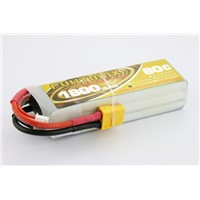 High C-rate more power 3.7v 1800mAh 80C 1s-6s cell lipo battery pack for FPV racing