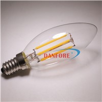 Dimmable 220V 110V E12 B15 4W 5W  6w Filament led candle e14