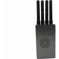 Grey Portable High Power 4G LTE Mobile Phone Jammer