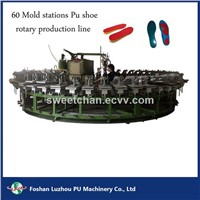 Polyurethane Shoes High Heels Moulding Production Line