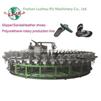 Oval Conveyor PU Shoe Sole Machine/PU Foam Dispensing Machines from