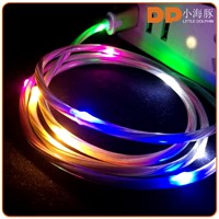 gadgets 2016 usb micro cable glowing LED light USB 2.0 charging cable for smartphone