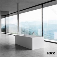 rectangle freestanding  soaking acrylic solid surface bathutb