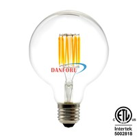 UL ETL Approved 120V Dimmable 3.5W 5W 6.5W G95 G30 Edison Filament LED Bulb