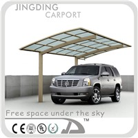 Aluminum carports with polycarbonate roof