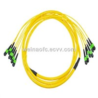 Fiber Optic Patch Cord Jumper Cable MPO-MPO 72 Cores Fibers Singlemode 5m