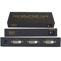 DVI 2 port splitter 1x2 dual link DVI-D up to 4K