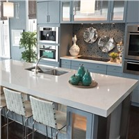 Mirror surface kitchen quartz counter top for Italian family use