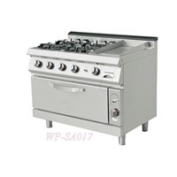 Standing Gas Style Four Burners Oven & Gas Griddle