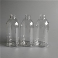 5 oz and 6 oz transparent round shape plastic bottle with sprayer
