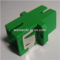 Optical Fiber Adaptor SC-SC APC Simplex Plastic Housing Green