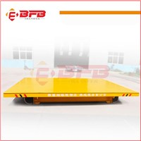 Low cart height large table trolley rail transfer wagon