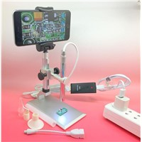 200X 8-LED Zoom USB Digital Microscope Endoscope With Holder Stand For Android,PC,IOS
