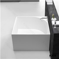 White Matt Corian Whirlpool Bathtub