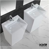 artificial acrylic resin stone freestanding bathroom sink