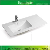 ceramics counter top bathroom wash hand basin sink