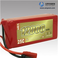 14.8V 16000mAh High Rate Discharge Lipo Battery Pack, Jump Start Battery, R/C Battery