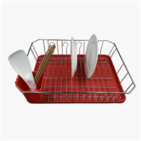 Dish Drainer With Plastic Tray