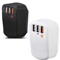 (Qualcomm Certified )Quick Charge 3.0 42W 3-Port USB Travel Charger for Smart phone/tablet