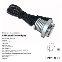 Mini Recessed 1W LED Downlights IP67 Waterproof 12V Antiglare Embedded Spotlight Hotel Rooms Stores Path Light Lighting