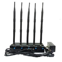 Adjustable 5.2G/5.8G 2.4G WIFI Jammer With 4 Antennas