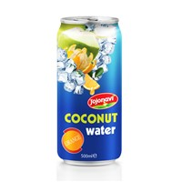 Wholesale Coconut Water with Fruit Juice Orange Flavour Aluminium Can