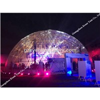 Luxury geodesic dome tents, steel structure dome tent with clear pvc fabric