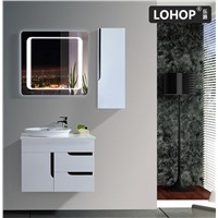 New Style PVC Bathroom Vanity, Invisible Handle & Bluetooth Music Player, Countertop