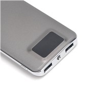 8000mAh Ultra-slim Power Bank, Dual USB Port 2.1A & 1A External Mobile Battery Charger for iPhone