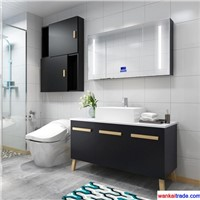 New Style Mulitlayer Solid Wood Bathroom Vanity with Senior Wooden Paint & Bluetooth Music Player