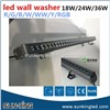 building linear bar church hotel outdoor landscape wall wash lighting 18W led waterproof wallwasher