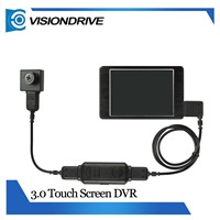 VD8000II+501HD 3 inches digital electronic finger touch screen mini Invisible wearable police camera