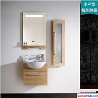 New Style Oak Bathroom Vanity, Lamp Mirror with Intelligent Mist Removing