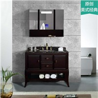 New Style Oak Bathroom Vanity, Natural Marble Countertop & Bluetooth Music Player