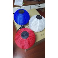 Fabric Lanterns with Solar Panel & Rechargeable Battery for Party Decoration