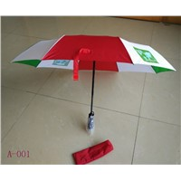 3 Fold Auto Open & Auto Close Advertising Umbrella