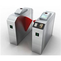 ESD Fingerprint Access Control Flap Turnstile Gate Entrance Control System