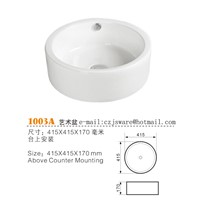 China Ceramic Wash Basins Manufacturers, Ceramic Sinks Suppliers, Bathroom Basin Suppliers 1003A