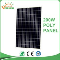China Manufacure Solar Panel a Grade 200w Poly Panel